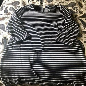 J Crew Navy and White Stripe Dress